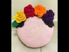 Almohadón / Cojin con la cara de Frida a crochet / Tutorial | Crochet y Dos agujas - Patrones de tejido