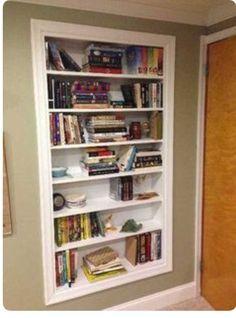 Old door decor wall shelves 69 Ideas Built In Wall Shelves, Recessed Shelves, Wall Bookshelves, Closet Shelves, Wall Storage, Shelving, Build Shelves, Bookcases, Bookshelf Design