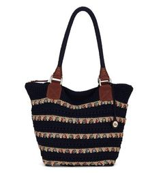 A great bag for the season, the Cambria Large Tote in Navy Ribbon fits everything you'll need for work or the weekend.