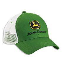 Bone John Deere White Mesh Cap