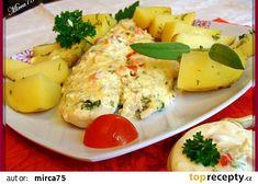 Rybí filety pod bylinkovo - smetanovým kabátkem / parní hrnec Potato Salad, Potatoes, Treats, Ethnic Recipes, Sweet Like Candy, Potato, Snacks, Sweets, Food Porn