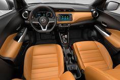 Interior of the Nissan Kicks compact SUV revealed Nissan March, New Nissan, Nissan Kicks, Renault Zoe, Jeep Pickup Truck, Used Mercedes, Upcoming Cars, Nissan Versa, Cars