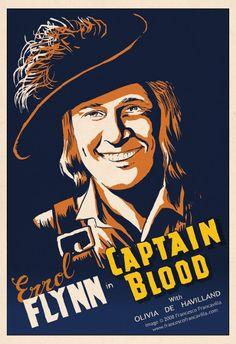 "MP1167. ""Captain Blood"" Alternative Movie Poster by Francesco Francavilla (Michael Curtiz 1935) / #Movieposter"