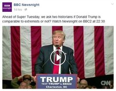 """On 29 February 2016, BBC2's Newsnight invited two historians, Donna Murch and Tom Holland, to explore historical analogies for the Trump phenomenon. Was he a bit like Hitler or Mussolini? Murch, though admitting that """"it's hard to find a perfect historical analogy,"""" proposed 1960s segregationalist George Wallace. Holland plumped for the Emperor Nero..."""