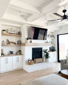 Living Room Built Ins, My Living Room, Home And Living, Living Room Decor, Shelving In Living Room, Living Room Cabinets, Room Shelves, Fireplace Built Ins, Home Fireplace