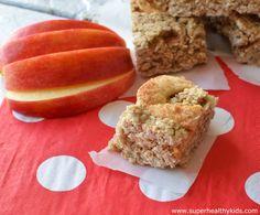 apple cinnamon cookie bars from super healthy kids