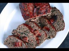 My Grandmother's Meatloaf By Andrew Zimmern This is a hearty meatloaf of beef, pork and veal studded with flavorful vegetables. How To Cook Meatloaf, Meatloaf Recipes, Meat Recipes, Cooking Recipes, Healthy Recipes, Recipies, Classic Meatloaf Recipe, Andrew Zimmern, Food Dishes
