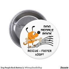 Dog People Rock Button