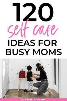 Discover 120 self care ideas for busy moms with this massive list. Whether you take a self care Sunday or other weekly day for yourself, make time to unwind with simple and fun activities to recharge. Create a routine or find new products to indulge in on your day off. #selfcare #selfcareideas #selflove #selfcaresunday #selfcareformoms