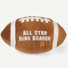 """Make the day extra special for your young attendant with this plush """"All Star Ring Bearer"""" Football. Football measures approx. 12"""" long."""
