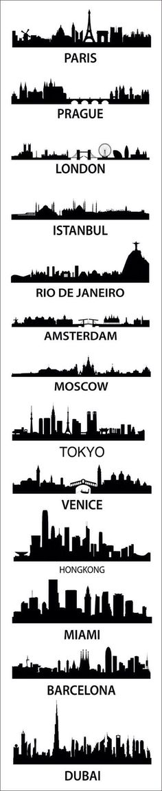 Silhouettes of Big Cities
