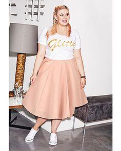 Sprinkle of Glitter Jacquard Skirt | Simply Be