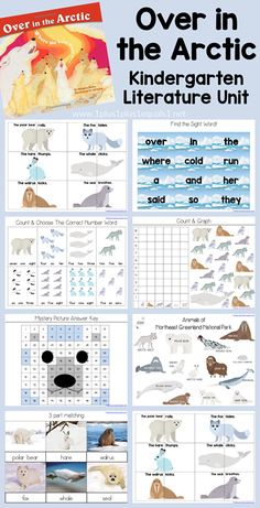 Over in the Arctic Kindergarten Literature Unit Sequencing Activities, Printable Activities For Kids, Kids Learning Activities, Homeschool Kindergarten, Preschool At Home, Homeschooling, Learning Time, Early Learning, Arctic Hare