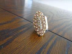 Maxi anel lindo, folheado a ouro com strass #ilove #atelie #acessorios
