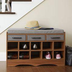 Household Essentials Entryway Shoe Storage Bench & Reviews   Wayfair