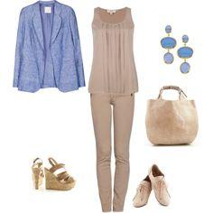 """Soft Summer Light: beige - blue inspiration"" by adriana-cizikova on Polyvore"