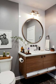 Mirrors Are Amazing Interior Design Accessories And You Can Put A Mirror In  Every Room That You Wish For! Small Bath Idea   Round ...