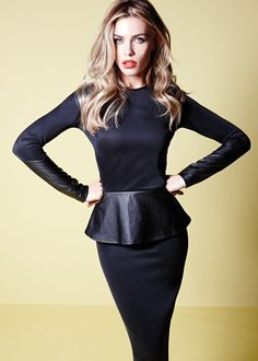 d1d707af6f Abbey Clancy Peplum Dress - Matalan £30 Ropa