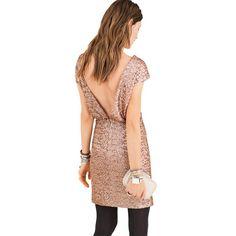 Robe à sequins SOFT GREY Ideias Fashion, Wrap Dress, Grey, Style, Dresses, Glitter, Vestidos, Low Cut Dresses, Woman