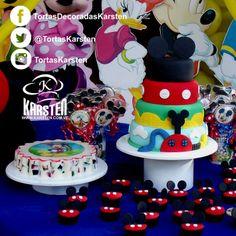 Torta, gelatina y Cupcakes de #MickeyMouse