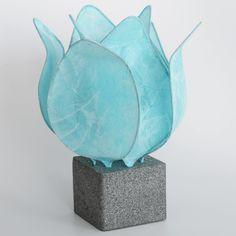 Tulp lamp - licht blauw