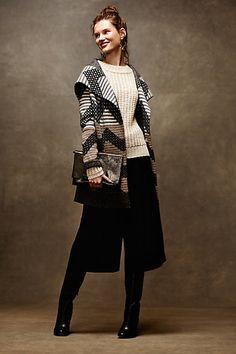 Striped Chevron Sweatercoat #anthropologie