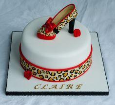 Shoe Birthday Cakes   Kurt Geiger Shoe Birthday Cake