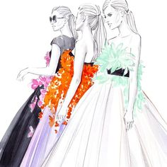 #giambattistavalli #backstage #inspiration #couture #fashion #illustration #fashionillustration #fashionart #fashionillustrator #artist #lenaker #artwork #watercolor