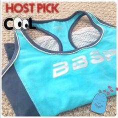 🎉🎊Host Pick🎉🎊BEBE sport activewear tank BEBE sport activewear blue tank. Size small. Stretchy, razorback.,Transparent back. In good condition. 90% Nylon, 10% spandex bebe Tops Tank Tops