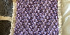 An Afghan Stitch Sampler – Block 50 (Bi-color Trebles)   Quilts To Crochet