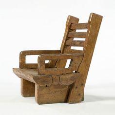 Jose Zanine Caldas, Brazil,  Arm chair in pine with four back slats.