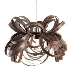 Butterfly Pendant Walnut, $459, now featured on Fab. Tom Raffield Wildly Creative Wood Lamps Inspired by the natural grandeur of southwest England, Tom Raffield creates stunning sculptural lamps from sustainably grown wood, manipulating it through his own adaptation of traditional steam bending. The materials and techniques may be simple, but these untamed shapes are remarkably complex.