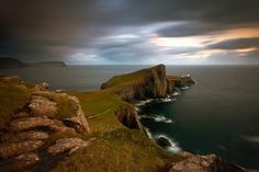 Neist Point Lighthouse: Skye, Scotland. Great for whale, dolphin, and sea eagle-spotting!