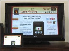 How to Connect a Kindle Fire to a TV! From www.lovemyfire.co