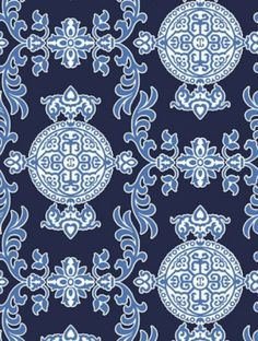 Buy Halie Navy, a feature wallpaper from Thibaut, featured in the Enchantment collection from Fashion Wallpaper. Navy Wallpaper, Feature Wallpaper, Fashion Wallpaper, Painting Wallpaper, Fabric Wallpaper, Blue And White Fabric, Blue Fabric, Textures Patterns, Fabric Patterns