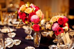 Pretty floral centerpieces #weddings #centerpieces #blisschicago