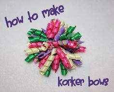 How to make korker bow tutorial