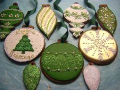 Ornament Cookies - Osedo L Cakes