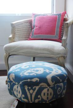 Pillow, chair & ottoman via Le Cart SF... love them all!