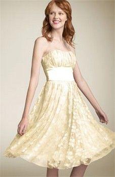soft yellow lace dress