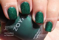 Zoya Matte Velvet Nail Lacquer in Veruschka with Top Coat