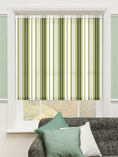 This Smart Green Striped Design Is Accentuated By A Smidgen Of Stony Grey And Dash Bright White To Give It Lovely Look