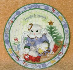 "Enesco Calico kittens "" Friendship is Heavenly "" plate nib by Catloversdream on Etsy"