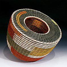 Protecting wide Open Spaces by Kari Lonning, artist dyed rattan reed
