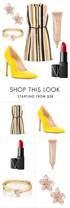 """""""Untitled #34"""" by polywor ❤ liked on Polyvore featuring Chico's, Stuart Weitzman, NARS Cosmetics, tarte, Loren Stewart and NAKAMOL"""