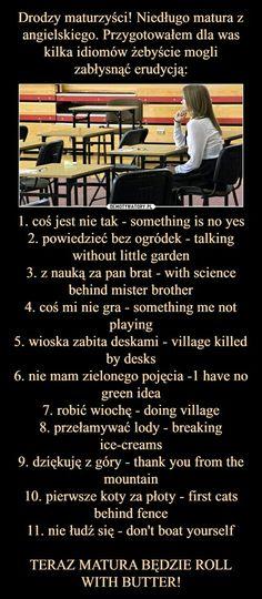 High School Life, Life Hacks For School, Back To School, Learn English Grammar, English Words, English Language, Polish To English, School Information, School Notes
