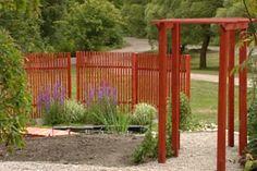 snyggt enkelt staket