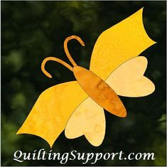 October Butterfly Applique Pattern | Craftsy