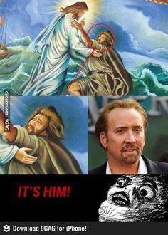It's Nicolas Cage! Stupid Funny Memes, The Funny, Hilarious, Nicolas Cage, Memes Humor, Best Funny Pictures, Funny Photos, Christian Humor, Lol