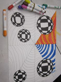 Neues Op Art Projekt … ich bin so aufgeregt ! Source by The post Neues Op Art Projekt … ich bin so Op Art Lessons, Art Lessons Elementary, Middle School Art Projects, Art School, High School, Zantangle Art, 7th Grade Art, Ecole Art, Art Lesson Plans